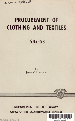 Procurement of Clothing and Textiles  1945 53 PDF