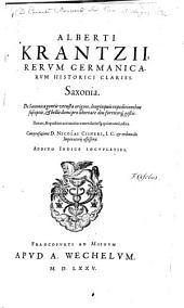 Saxonia et metropolis