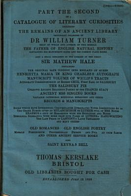 Part the Second of a Catalogue of Literary Curiosities