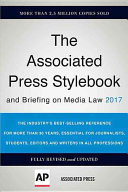 The Associated Press Stylebook 2017 Book