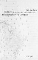 Dante als Dichter der irdischen Welt PDF