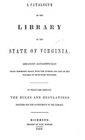 A Catalogue of the Library of the State of Virginia PDF