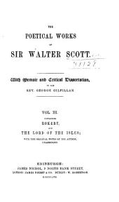 The poetical works of Sir Walter Scott: With memoir and critical dissertation, Volume 3
