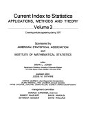 Current Index to Statistics  Applications  Methods and Theory PDF