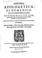 Lettera apologetica in difesa di alcune cose gia scritte da lui e appartenenti alla contessa Matelda, la Grande in Italia