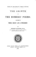 The Growth of the Homeric Poems PDF