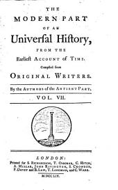 An Universal History, from the Earliest Account of Time: Volume 7