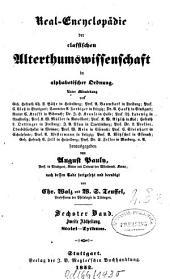 Pauly's Real-Encyclopädie der classischen Altertumswissenschaft in alphabetischer Ordnung: Stoici - Zythum, Band 6,Ausgabe 2
