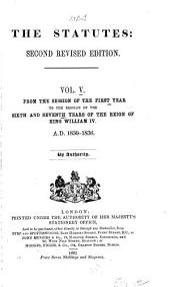 The Statutes: Volume 5