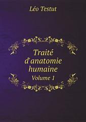 Trait? d'anatomie humaine