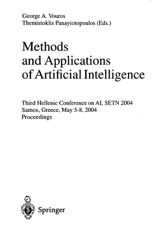Methods and Applications of Artificial Intelligence PDF