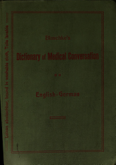 A dictionary of medical conversation, English-German