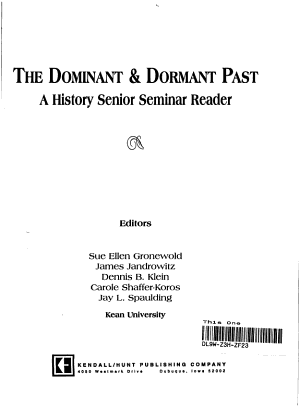 The Dominant and Dormant Past PDF