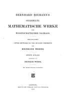 Gesammelte mathematische Werke und wissenschaftlicher Nachlass PDF