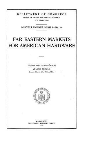 Far Eastern Markets for American Hardware