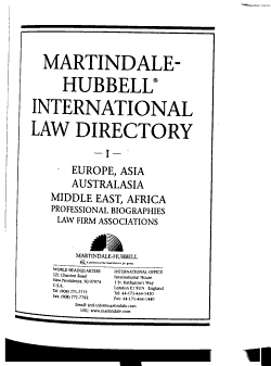 Martindale Hubbell International Law Directory PDF