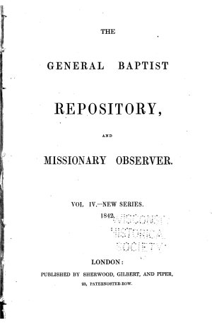 The General Baptist Repository and Missionary Observer