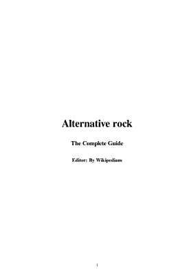 Alternative Rock PDF