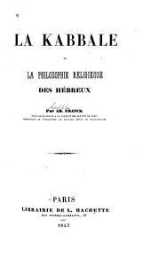 Philosophie religieuse des Hébreux