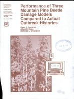 Performance of Three Mountain Pine Beetle Damage Models Compared to Actual Outbreak Histories PDF