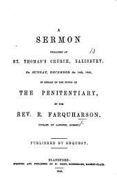 A sermon [on Luke xix. 10] preached ... December the 14th, 1845, etc
