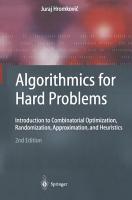 Algorithmics for Hard Problems PDF