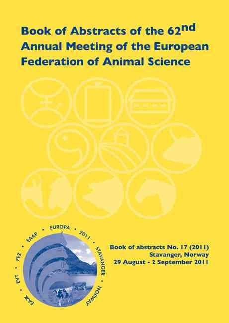 Book of Abstracts of the 62nd Annual Meeting of the European Association for Animal Production