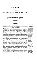 Reports of Cases Relating to the Office of Magistrates  Determined in the Court of King s Bench PDF