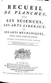 RECUEIL DE PLANCHES, SUR LES SCIENCES, LES ARTS LIBÉRAUX, ET LES ARTS MÉCHANIQUES, AVEC LEUR EXPLICATION.