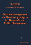 Personalmanagement als Gestaltungsaufgabe im Nonprofit und Public Management PDF