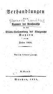 Verhandlungen der Kammer der Reichsräthe des Königsreiches Bayern ...: Band 11