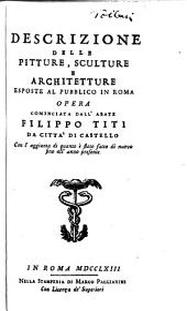 Descrizione delle pitture: sculture e architetture esposte al pubblico in Roma