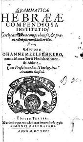 Ioa. Meelführeri Grammaticae Hebraeae compendiosa institutio