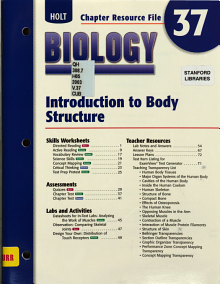 Holt Biology  Introduction to body structure PDF