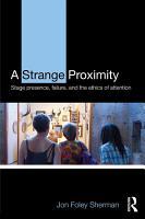 A Strange Proximity PDF