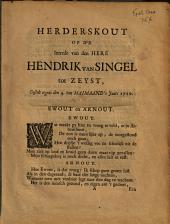 Herderskout op de intrede van den here Hendrik van Singel tot Zeyst, gestelt tegens den 4. van Maimaand 's jaars 1710