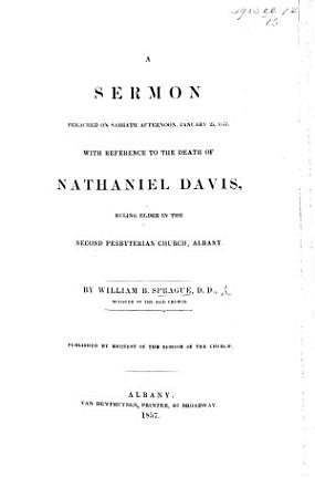 A Sermon  on Gen  v  24  preached     with reference to the death of N  Davis  etc PDF