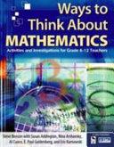 Ways to Think About Mathematics