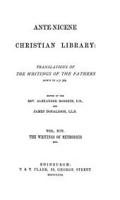 Ante-Nicene Christian Library: The writings of Methodius, etc. (1869)