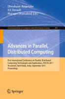 Advances in Parallel  Distributed Computing PDF