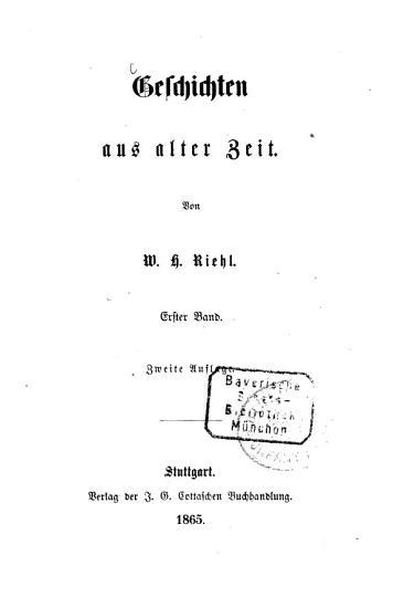 Geschichten aus alter Zeit PDF