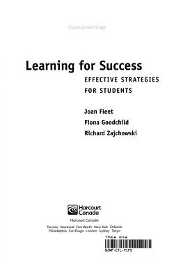 Learning for Success PDF