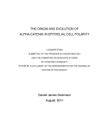 The Origin and Evolution of Alpha-catenin in Epithelial Cell Polarity