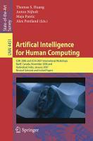 Artifical Intelligence for Human Computing PDF