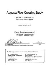 Augusta River Crossing Study, Kennebec County, Maine: Environmental Impact Statement