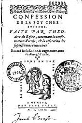 Confession de la foy chrestienne,...