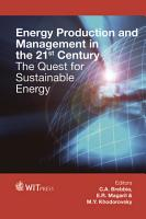Energy Production and Management in the 21st Century PDF