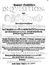 Peinlicher sächsischer Inquisition- und Achts-Proceß