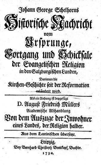 Historische Nachricht vom Ursprunge  Fortgang und Schicksale der evangelischen Religion in den Salzburgischen Landen PDF
