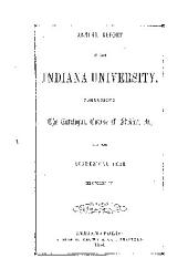 The Indiana University Catalogue ... Register ... Announcements
